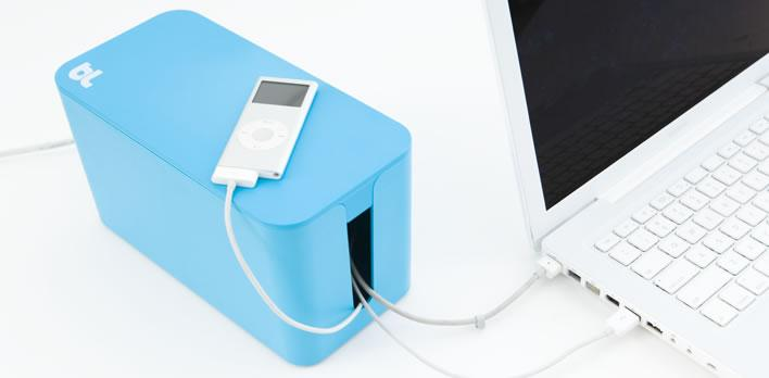 blueLounge CableBox Mini - Raspberry