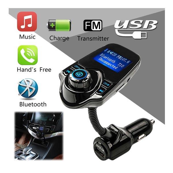Bluetooth FM Transmitter with USB Charger Car Kit + Hands-Free Call