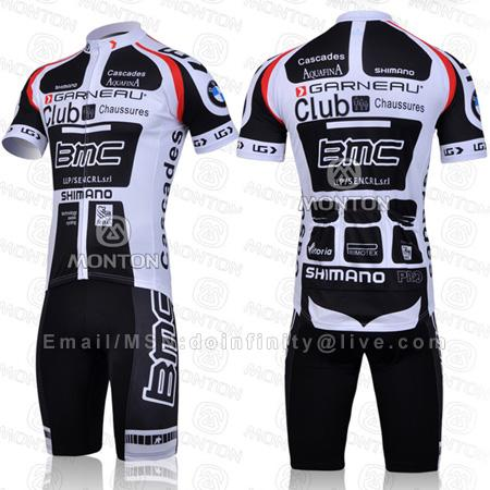 New BMC Team Bicycle Bike Short Sleeve Cycling Jersey Shorts Kit Set