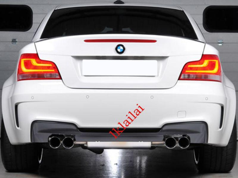 BMW 1 Series E87 '04 1M Look Rear Bumper PP Quad Outlet