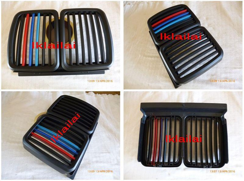BMW 3 Series E30 '83-97 M40 Front Grille M-Style Tri-Colour