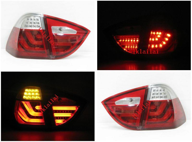 BMW 3 Series E90 05-08 LED Light Bar Tail Lamp [Red-Clear /Smoke Lens]