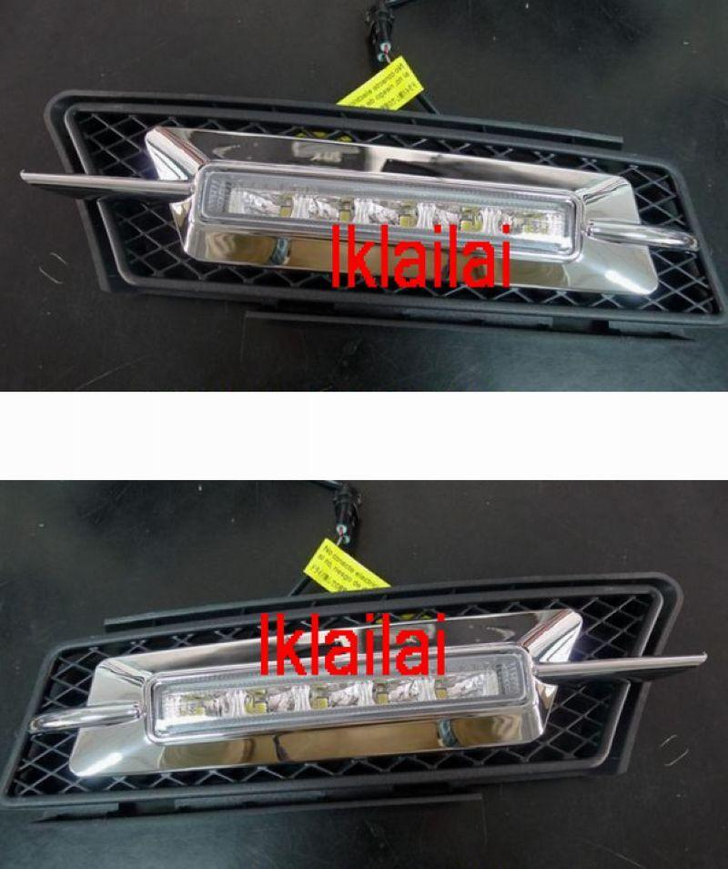 BMW 3 Series E90 DRL LED Fog Lamp Chrome Cover ABS Daylight
