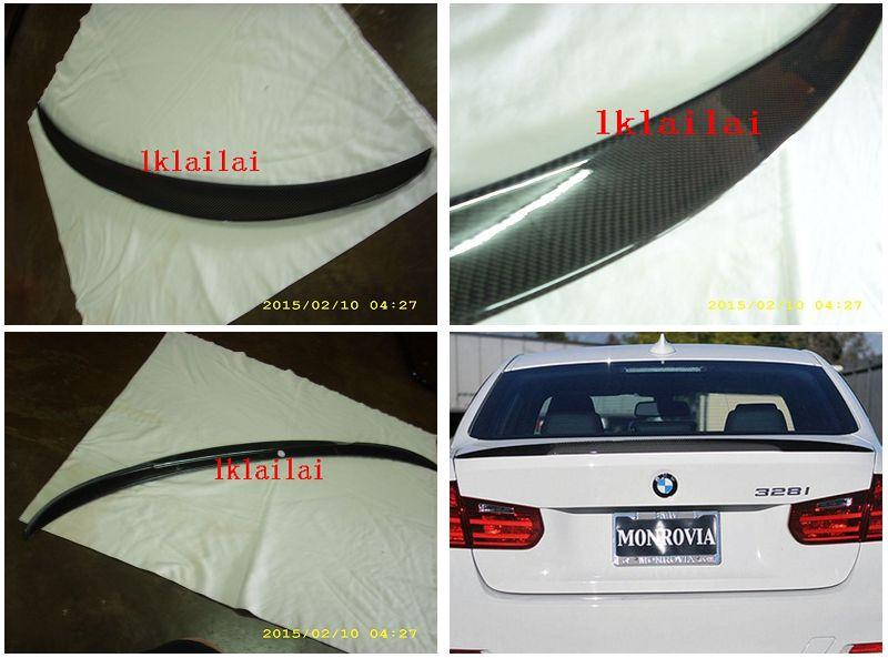 BMW 3 Series F30 `12 Rear Trunk Spoiler M Performance Style W/Carbon