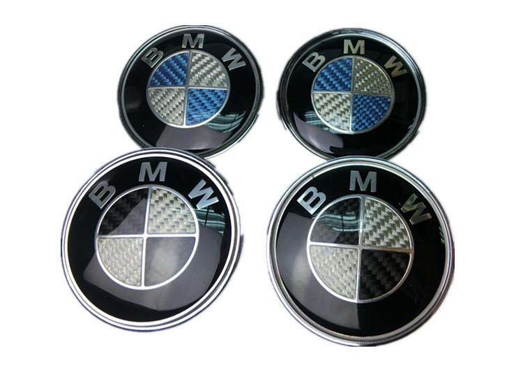BMW 3D Carbon Fiber Emblem (Black/Blue)