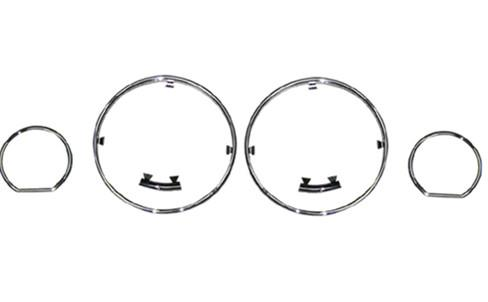 BMW 5 Series E34 '88-94 Meter Chrome Rim Set [4pcs]