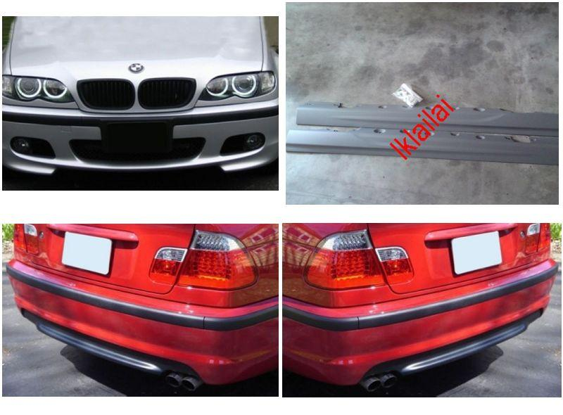 BMW E46 '98-'04 M-TECH SMG Full Set Body Kit [Bumper/Skirt]PP Material