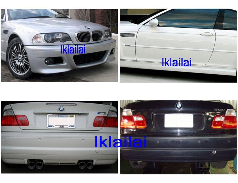 BMW E46 '98-'04 M3 Style Full Set Body Kit  [Bumper/Skirt]PP Material]