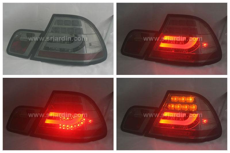 BMW E46 99-05 2 Door Smoke Light Bar LED Tail Lamp