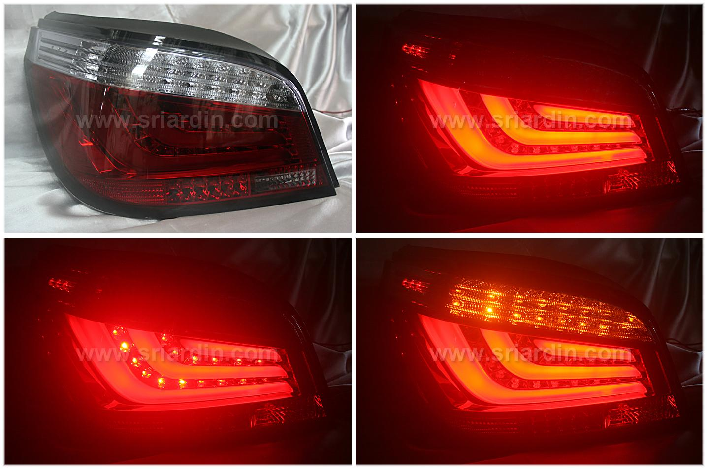BMW E60 03-07 Red Smoke Light Bar LED Tail Lamp
