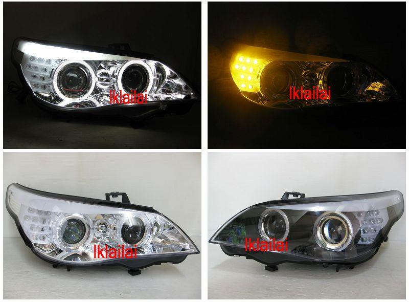 BMW E60 Projector Head Lamp LED Signal & Eye Brown [Halogen H1 & H7]
