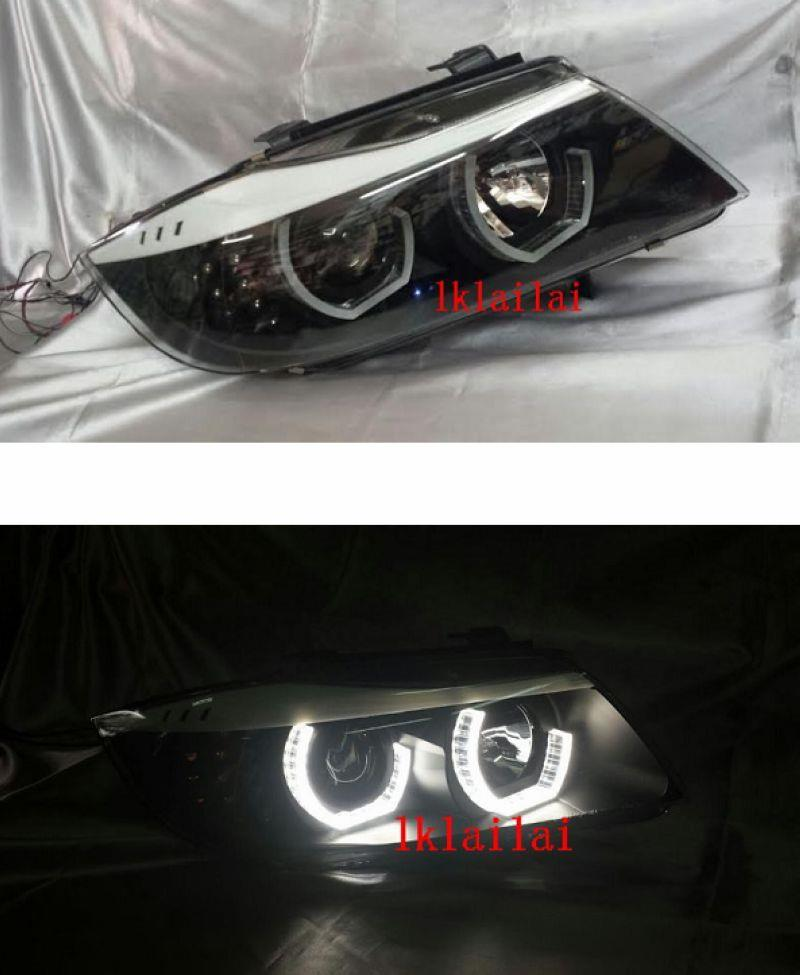 BMW E90 '05 U-Style LED Ring Projector Head Lamp + LED Signal