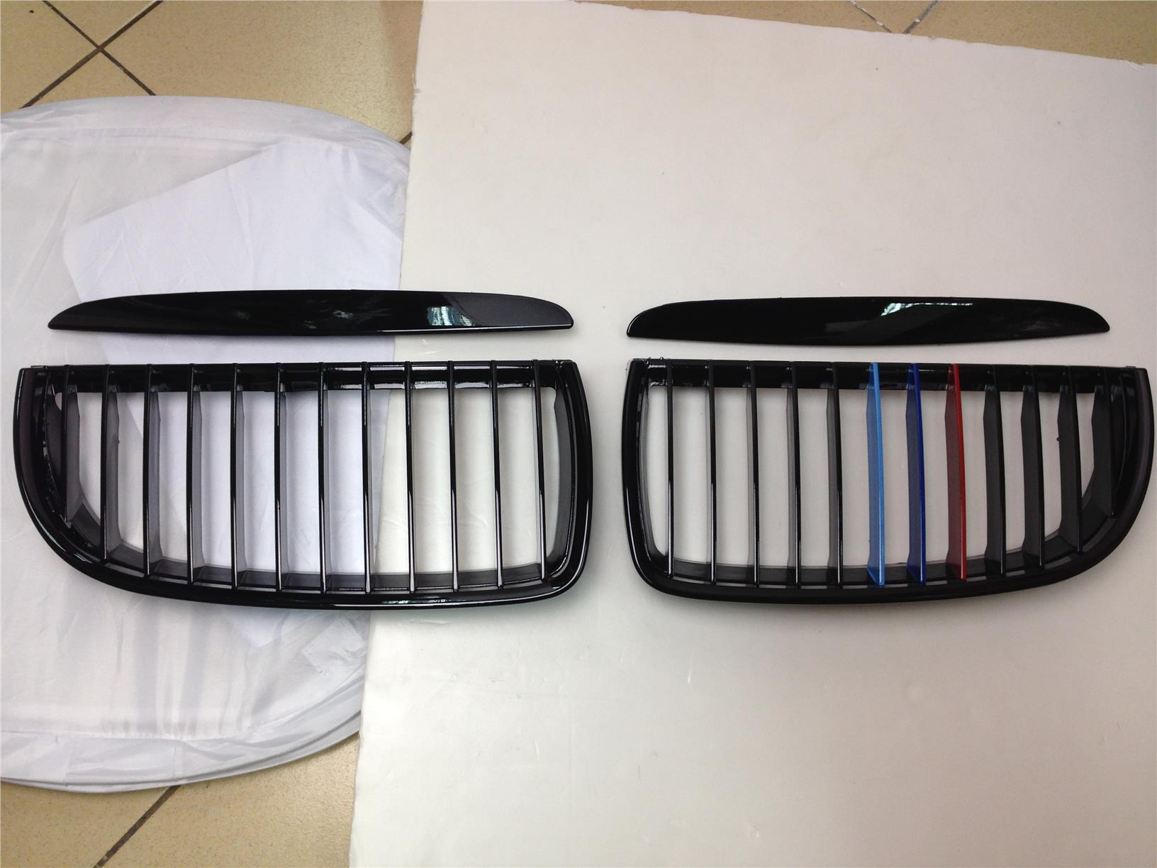 Bmw E90 Non Facelift Front Grill Gloss Black M Sport Tri Color