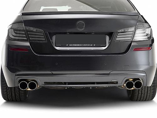 BMW F10 '10 Rear Bumper Diffuser Hamann Style Quad Outlet With Carbon