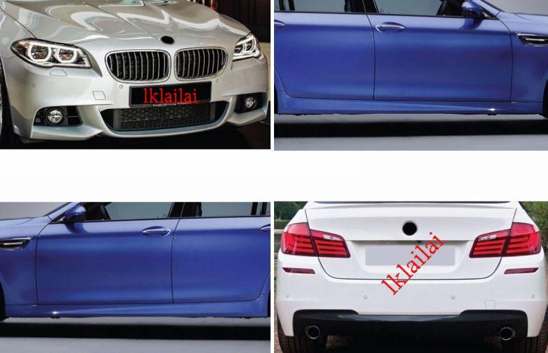 BMW F10 '13 M-TEK Style Full Set Body Kit [Bumper+Side Skirt] PP