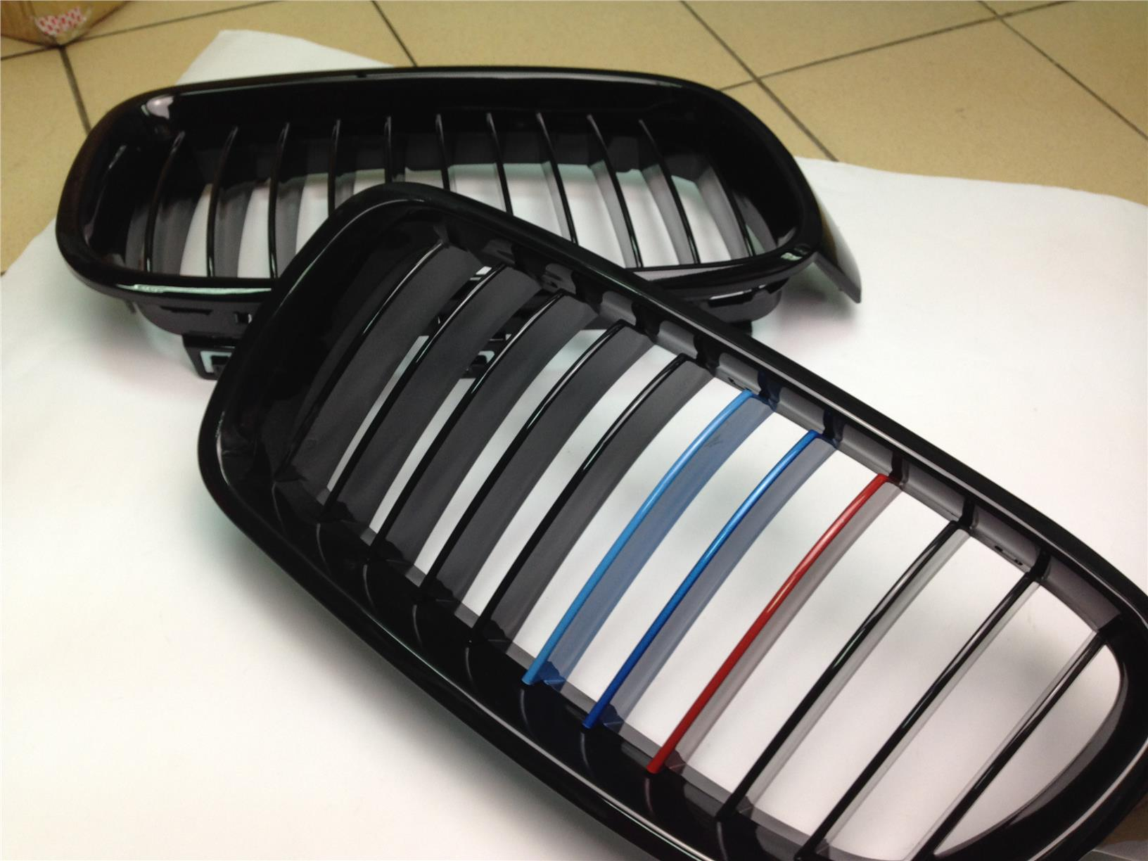 BMW F30 3 Series Gloss Black Tri Color Grill