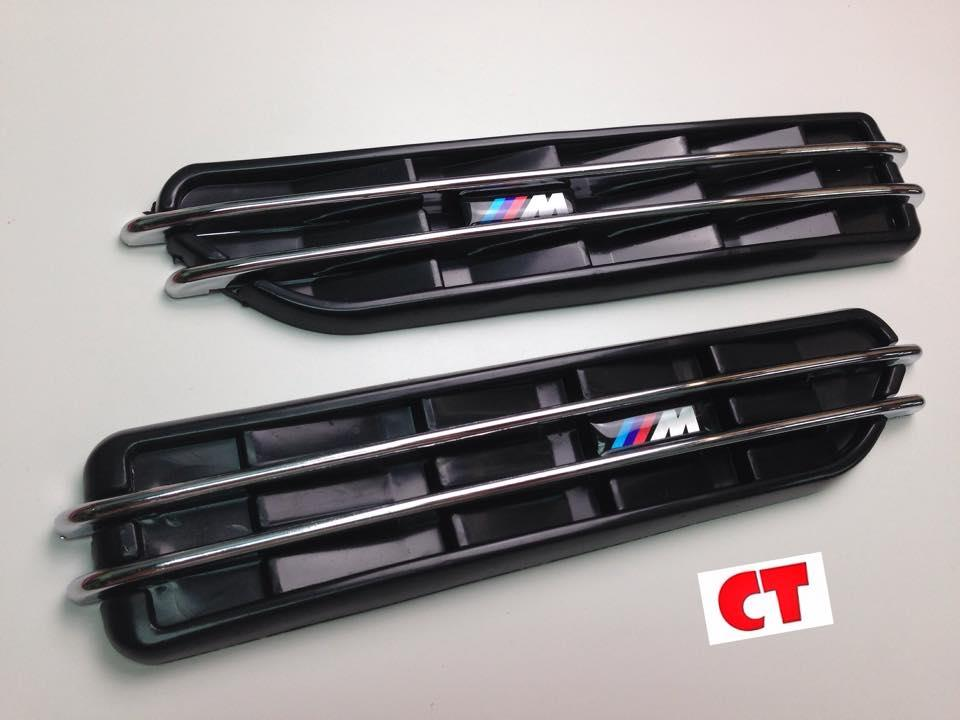 BMW MSport Air Flow Mesh Side Fender Vents Grilles