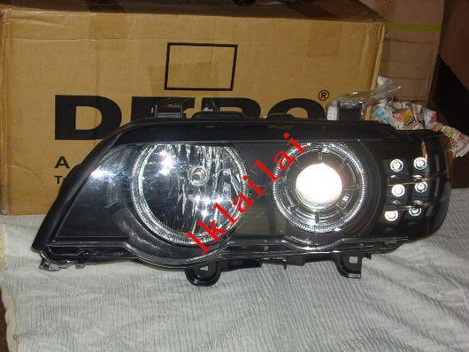 BMW  X5 E53 `02-06 Head Lamp Projector W/Rim+Motor+LED Signal BM21-HL0