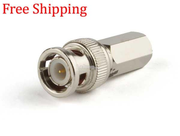 BNC twist connector-CCTV RG59 coaxial connector 1 Pack(10 pcs)