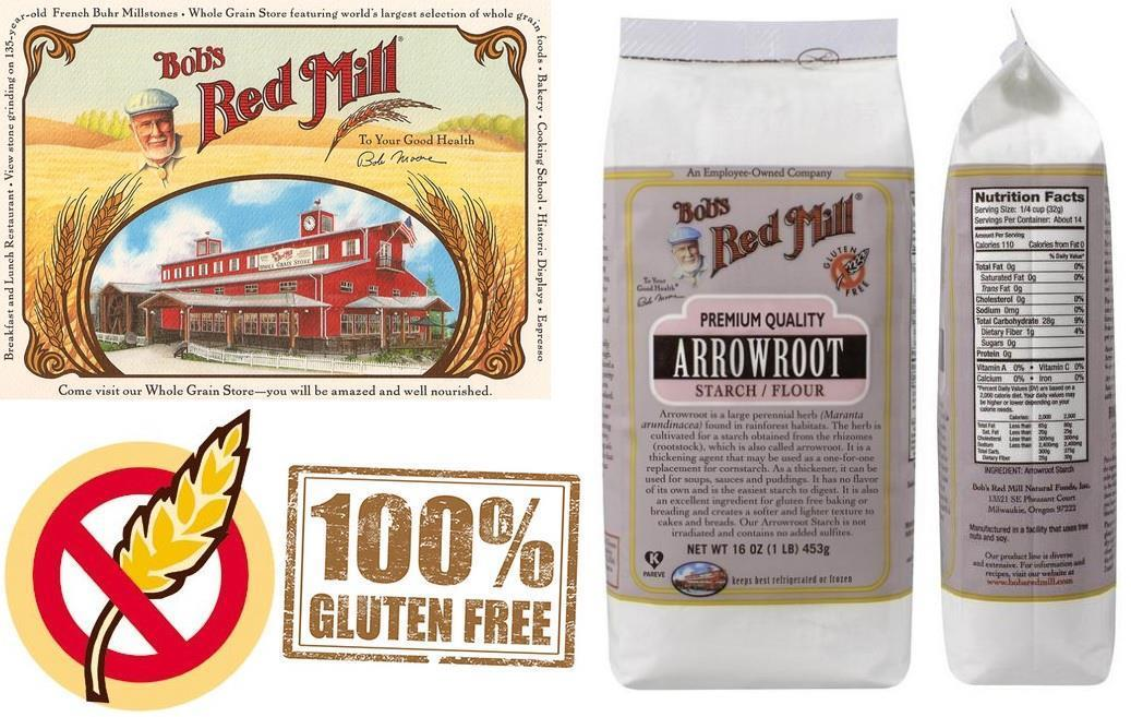 Bob's Red Mill, Premium Quality Arrowroot Starch / Flour, (453 g)