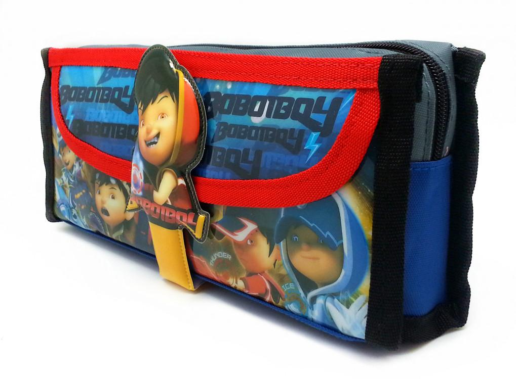 BOBOIBOY SQUARE PENCIL BAG WITH POCKET *  L20.5xH8xD6.5(CM)