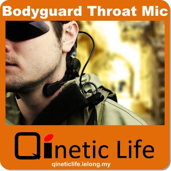 Bodyguard Cyclist Throat Mic Earpiece Headset Baofeng Kenwood