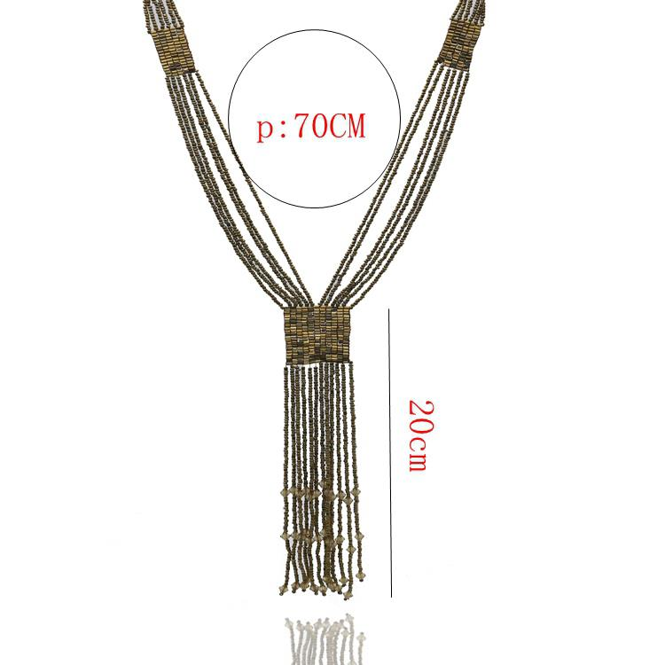 Bohemian Style Fashion Long Tassel Sweater Necklace Accessories