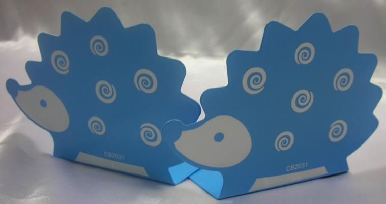 Book Supports with Cute Hedgehog Design in Set (Blue)~New