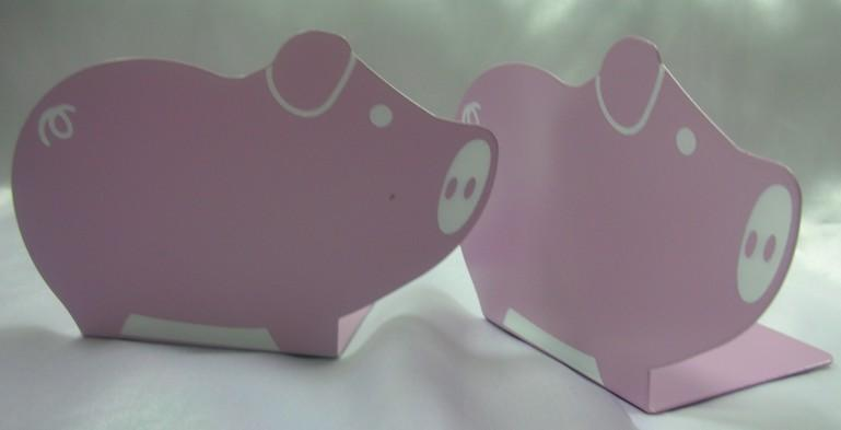 Book Supports with Cute Piggie Design in Set (Pink)~New