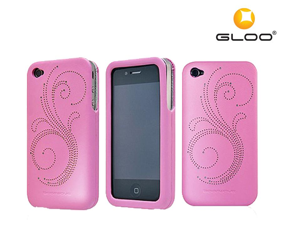 Boomwave iPhone 4 Faux Leather Case Kruz- Pink