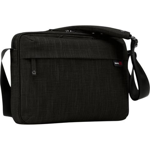 "BOOQ MAMBA SLIM 13"" LAPTOP MESSENGER BAG - BLACK"