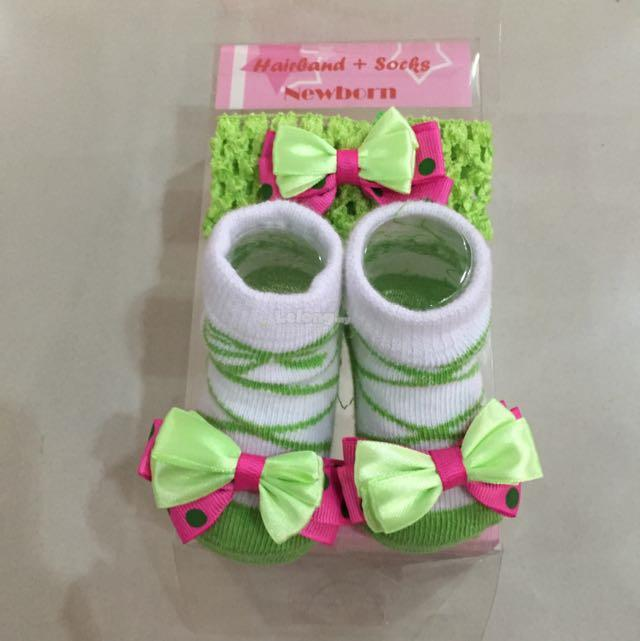 New Born Baby Girl Shock & Hairband Sets
