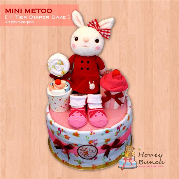 New Born & Full Moon Baby Gift Set [1 Tier Metoo Diaper Cake]