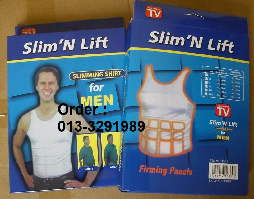 [Borong] 6 Singlet Vest Slim N Lift Male Body Slimming For Men