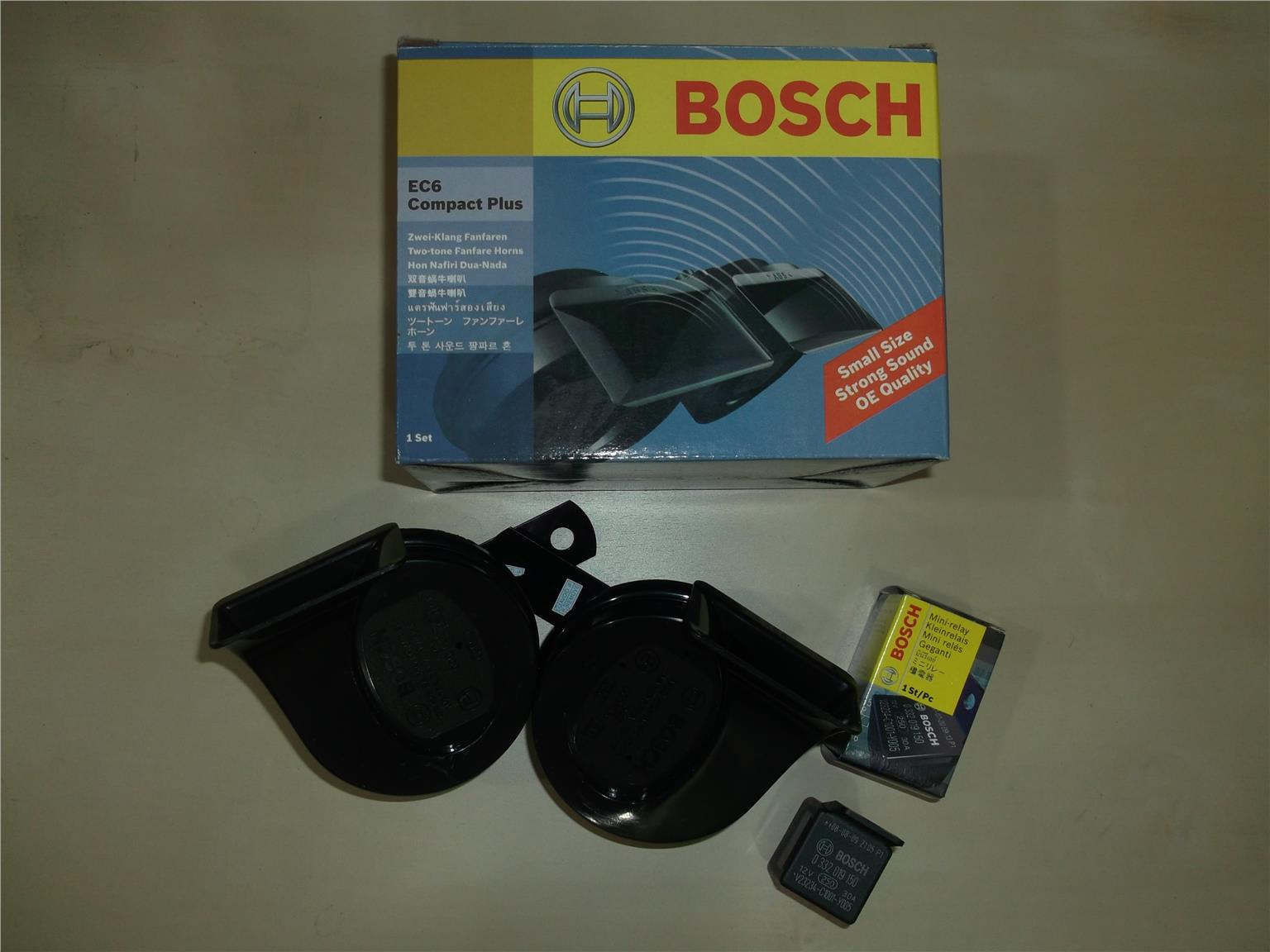 BOSCH EC6 BM TWIN TONE HORN (MADE IN TURKEY) FREE BOSCH RELAY