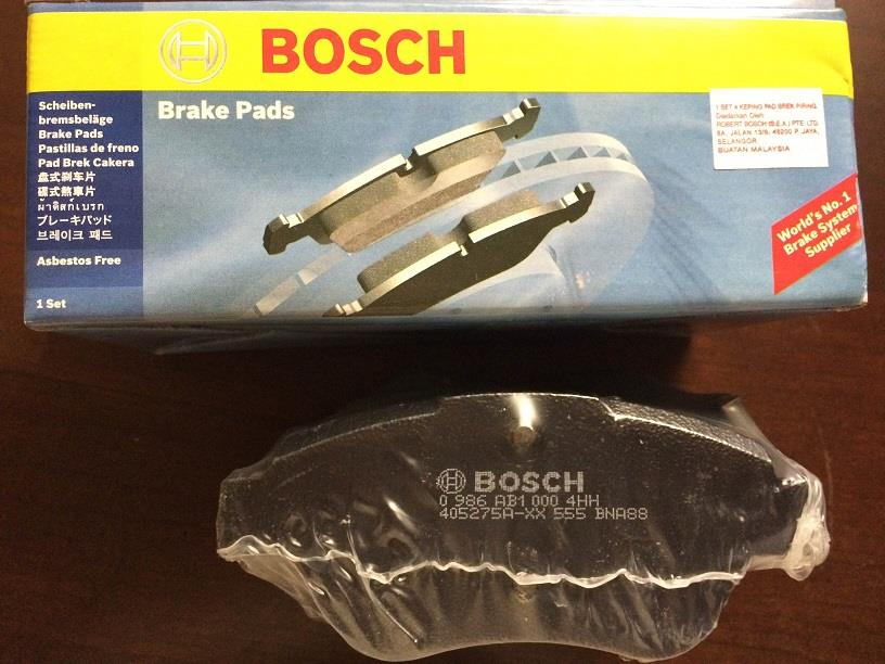 BOSCH FRONT BRAKE PAD for GEN2, NEO PERSONA