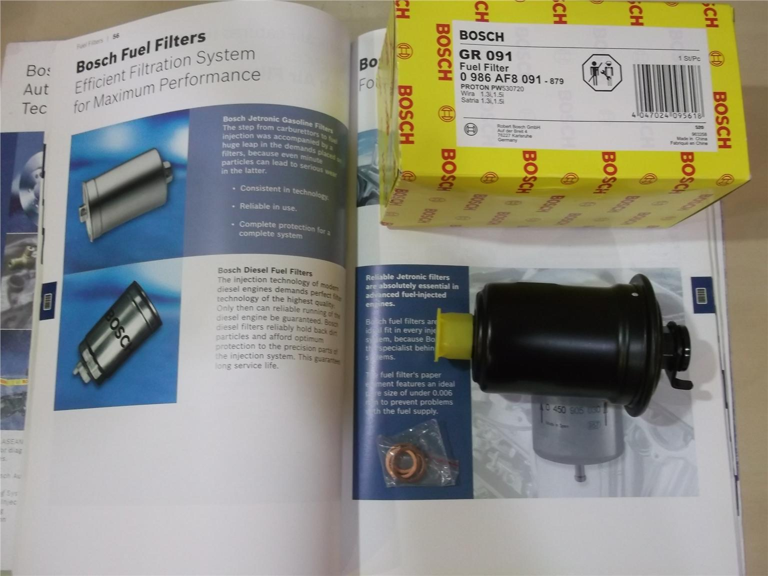 BOSCH FUEL FILTER for 4G13/4G15 WIRA/SATRIA INJECTION
