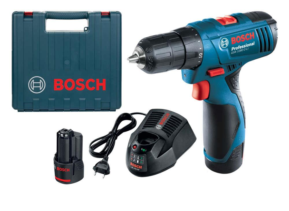 bosch gsr 1080 2 li cordless drill 10 8v free ph2 end 3. Black Bedroom Furniture Sets. Home Design Ideas