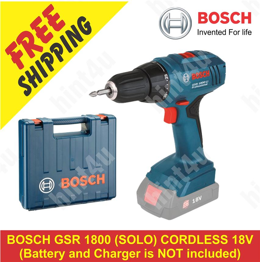 bosch gsr 1800 solo cordless 18v end 4 29 2018 6 15 am. Black Bedroom Furniture Sets. Home Design Ideas