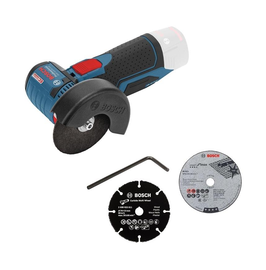 Bosch GWS 10.8V EC Brushless Cordless Angle Grinder (Solo)