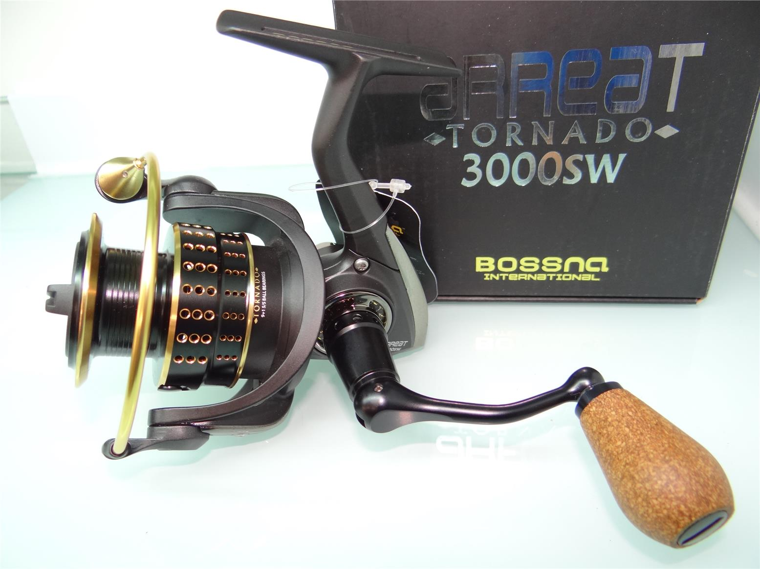 Bossna Arreat Tornado 3000SW Gold fishing reel