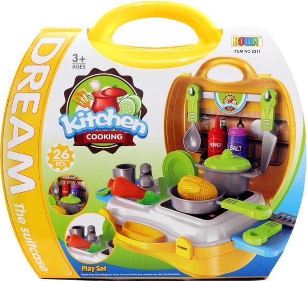 BOWA DREAM THE SUITCASE KITCHEN COOKING PLAYSET