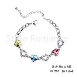 Bracelet with Swarovski Crystal - Sweat Heart (3 color) [CTB002M]