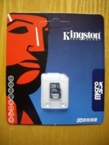 BRAND NEW 16GB KINGSTON MICRO SDHC 16GB CLASS 4 TF CARD