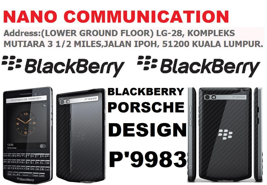 BRAND BLACKBERRY...BlackBerry Porsche Design P9983