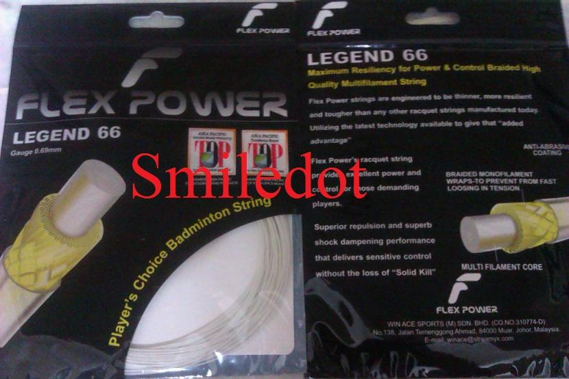 Brand New FlexPower Legend66 0.69mm Badminton String:BG65.NBG98 Yonex!