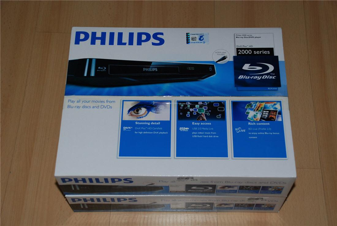 Brand New Philips Blu-Ray Player + RMVB + HDMI cable (BDP2100K)