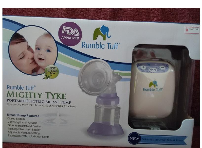 Brand New Rumble Tuff Mighty TYKE Single Electric Breast pump