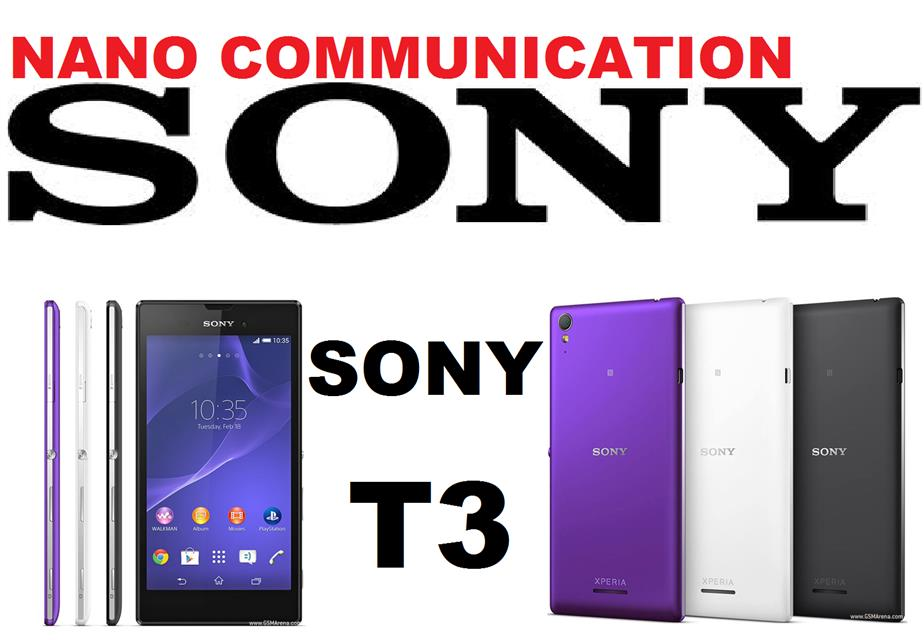 BRAND SONY.NANO COMMUNICATION WARRANTY.Sony Xperia T3 LTE 4G D5103