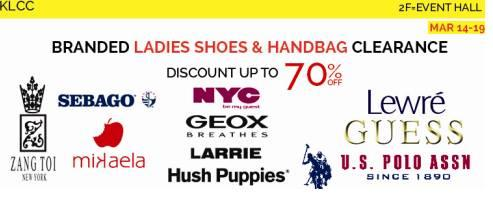 Branded Ladies Shoes & Handbag Clearance